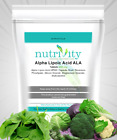 Alpha Lipoic Acid ALA 600mg Tablets Nutrivity UK Made Supplement Body Co-Enzyme