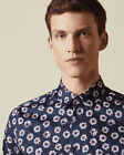 TED BAKER LONDON - WEWILL NAVY BOLD FLORAL PRINT SHIRT
