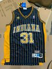 Reggie Miller Indiana Pacers #31 Hardwood Classic Navy Pinstripe Throwback Jerse on eBay