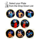 Star Trek TOS Crew Plate Collection-Series 2-Gold Border-Your Choice or Set on eBay