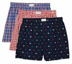 Tommy Hilfiger 3-Pack Men's Woven Cotton Boxer Shorts English Blue Assorted