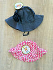 2 Circo Sun Hat Kids Yellow Blue Flower Girls Baby Toddler Swim Infant/18 Months