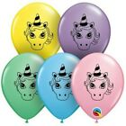 Unicorno Testa Assortimento Pastello Qualatex 12.7cm Palloncini IN Lattice