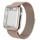 For Apple Watch Series 5 4 3 2 1 Milanese Mesh Loop Band iWatch Strap Full Case
