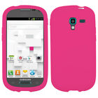 Solid Rubberized Silicone Skin Protector Case for Samsung Galaxy Exhibit T599