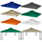 3x3 Gazebo Top Cover Replacement Canopy Waterproof 2-Tier Fabric Tent 3 x 3 m