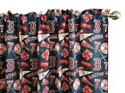 Boston Red Sox Baseball Sports Print Kitchen Curtain Valance Window Treatment on Ebay