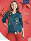 NEW AVON CHRISTMAS JUMPER RUDOLPH REINDEER SWEATER SWEATSHIRT TOP L/S UK 10 12