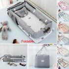 Newborn Crib Baby Bed Pillow Foldable Outdoor Cradle Cot Sleeping Nest Nursery