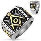 Masonic, square Stainless Steel. Lodge Ring sizes  9-14