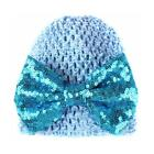 Baby Toddler Kids Sequins Bow Knotted Cap Wrap Turban Beanie Hat JH