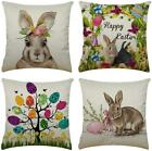 Xieccx Easter Pillow Covers 18X18 Set Of 4 Spring Home Decor Farmhouse Pillow Bu