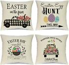 Hlonon Easter Pillow Covers 18 X 18 Inches Set Of 4 - Easter Series Cushion Cove