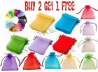 Organza Bags For Wedding Party Bridal Baby Shower Favour Gift Jewellery Pouch