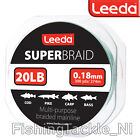 Leeda Super Braid Fishing Line - 300 Yard Spools - Cod Pike Carp Bass Fishing