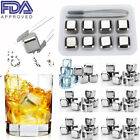Lot Whiskey Stones Ice Cube Stainless Steel Reusable Beer Beverage Cooler Chill