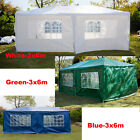 Heavy Duty 3x/3/4/6m Waterproof Gazebo Wedding Party Tent with Sides Wall Cover