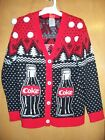 Women's Ugly Christmas Sweater Coke Coca Cola bottle It's the Real Thing NWT $16.39  on eBay