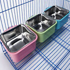 Plastic Hanging Bowl Pet Bowl Cage Cup Removable Stainless Steel Dog Food Bowl