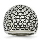 Chisel Stainless Steel Polished and Antiqued Ring SR340 image