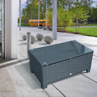 Rattan Outdoor Garden Furniture Weave Wicker Coffee Table - Black/Grey/Brown