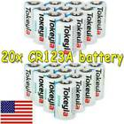 NEW 3V CR123A 123A 123 CR17345 3 Volt Lithium Batteries For Camera US Tokeyla