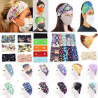 Kyпить Floral Yoga Headband Wide Stretch Hair Band With Button Women Sports Headband на еВаy.соm
