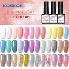 KOSKOE 120 Colors 8ml Nagel Gellack Glitzern Nail UV Gel Polish Soak Off Gel UV
