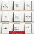 Bathroom Prints Framed Minimalist Wall Art Funny Poster Quote Home Decor Picture