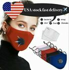 Kyпить Reusable Washable Cloth Air Ventilation Port Face Mask With 2 Pcs PM2.5 Filter на еВаy.соm