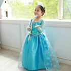 Girls Kids Princess dress Fancy Dress Up Cosplay Costume Party Hooded Cape dress