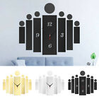 Modern Acrylic 3D Number Mirror Surface Wall Clock Sticker Home Office Decor US