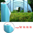 Garden Greenhouse Plastic Film Cover Polytunnel Sheeting Clear Blue Anti-UV New