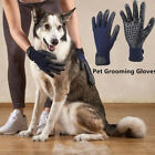 1Pair Pet Dog Cat Horse Grooming Hair Remover Bathing Shedding Combing Gloves EH