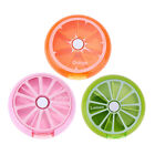 7 Sub Grid Round Fruit Shape Weekly Health Care Medicine Pill Box Organizer Good
