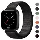 US For Fitbit Versa/Versa 2/Lite Replacement Woven Nylon Sport Watch Band Strap image