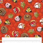 Angry Birds Cotton Fabric - Star Wars Orange Cartoon Leia Han Yoda FAT QUARTERS