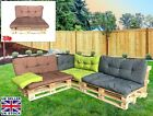 Garden Patio Pallet Furniture Cushion Seating & Backrest Set Reversible Seat Pad