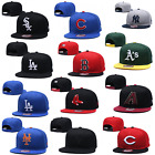 NEW Unisex Flat Brim MLB Teams Snapback Baseball Cap Embroidered Sports Sun Hat on Ebay