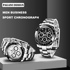 Pagani Design Waterproof Chronograph Japan Quartz Men's Wrist Watch Steel Strap