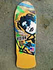 Mark Gonzales Vision Skateboards Original MG Yellow Blue Old School Reissue Deck image