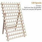 60 120 Sewing Thread Spool Rack Embroidery Cone Holder Organizer Wooden Folded