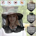 Men Camouflage Mosquito Head Face Net Hat Sun Protection Bee Bugs Inset Mesh Cap