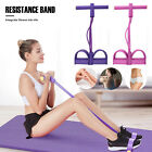 4-Tubes Yoga Equipment Sit-up Fitness Foot Pedal Pull Rope Resistance Exercise image