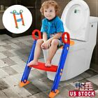 Potty Toilet Training Seat Kids Toilet Ladder Baby Toddler Training Toilet Step image