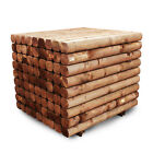 NEW MACHINE ROUNDED GARDEN RAILWAY SLEEPERS 120X100 1.2M BROWN RAISED BEDS