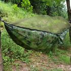 Double Person Outdoor Travel Camping Hanging Hammock Bed w/ Mosquito Net US