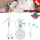 5X 8X LED Facial Magnifying Floor Lamp Rolling Magnifier Tattoo Lamp w/ Tray US~