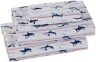 Better Home Style Lurking Great White Shark Kids/Boys/Toddler 3 Piece Sheet Set