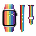 Rainbow Silicone Sport Band Wrist Strap for Apple watch band 5 4 3 2 1 44mm 40mm image